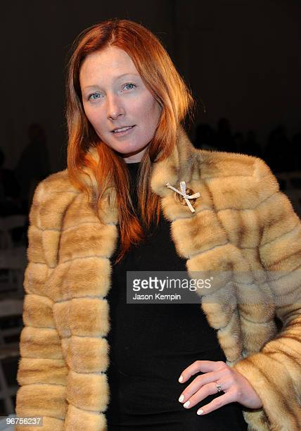 Model Maggie Rizer attends the Dennis Basso Fall 2010 Fashion Show during MercedesBenz Fashion Week at The Promenade at Bryant Park on February 16...