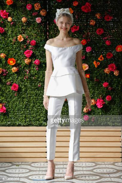 Model Maja Brodin walks the runway at the Lela Rose Spring 2018 bridal show at La Sirena on April 20 2017 in New York City