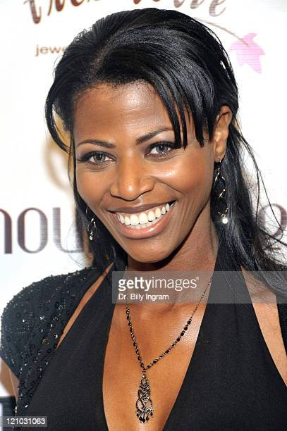 """Model Mala Ownes arrives at the """"Amour Creole"""" launch party at The Highlands on February 26, 2009 in Hollywood, California."""