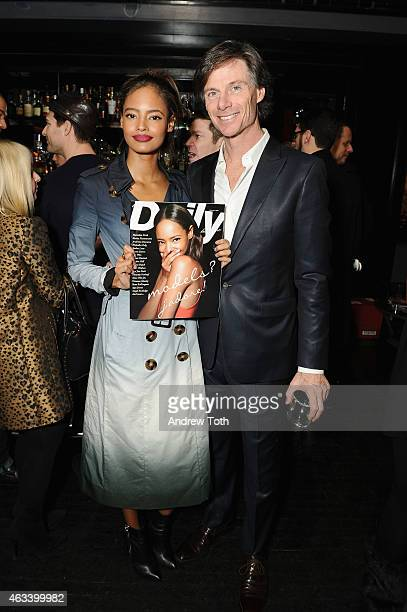 Model Malaika Firth and President/Publisher at The Daily Front Row Paul Turcotte attend The Daily Front Row's 2015 Model Issue reception during New...