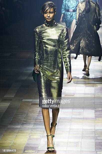 Model Malaika Firth walks the runway during the Lanvin show as part of Paris Fashion Week Womenswear Spring/Summer 2014 on September 26 2013 in Paris...
