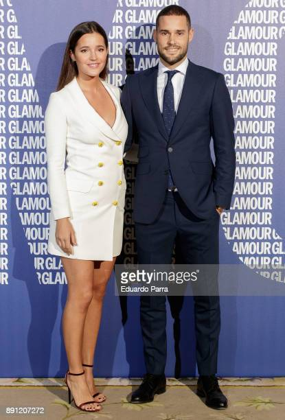 Model Malena Costa and soccer player Mario Suarez attends the Glamour Magazine Awards photocall at Ritz hotel on December 12 2017 in Madrid Spain