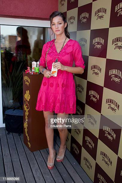 Model Malena Costa attends Hawaiian Tropic new productos photocall at Vincci Soma hotel on May 25 2011 in Madrid Spain