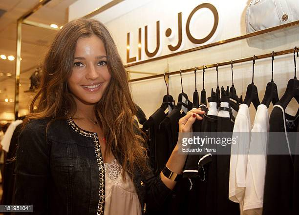 Model Malena Costa attens Lui Jo new collection presentation photocall at El Corte Ingles Store on September 26 2013 in Madrid Spain