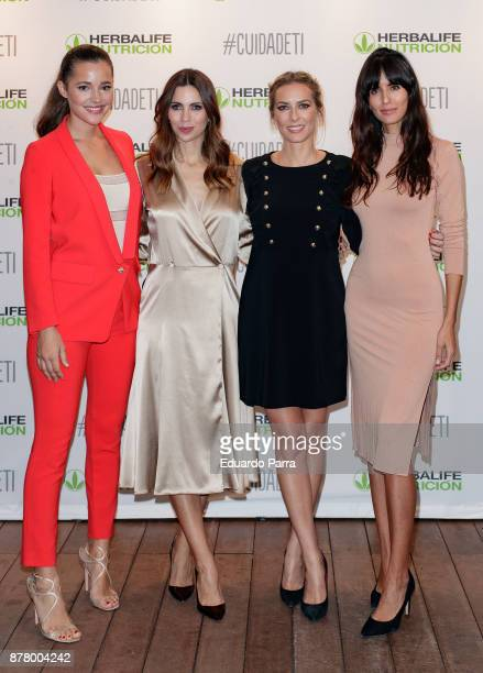 Model Malena Costa journalist Melissa Jimenez actress Kira Miro and model Ana Albadalejo attend the 'CuidaDeTi' presentation at Oscar hotel on...