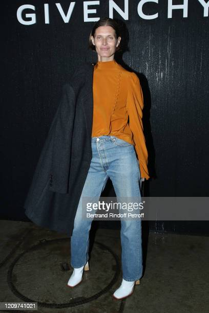 Model Malgosia Bela attends the Givenchy show as part of the Paris Fashion Week Womenswear Fall/Winter 2020/2021 on March 01, 2020 in Paris, France.