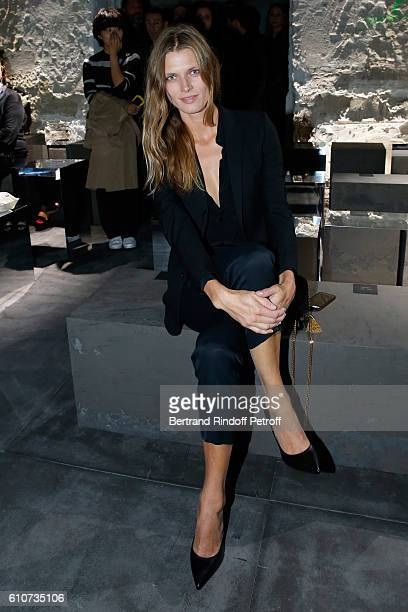 Model Malgosia Bela attends the Saint Laurent show as part of the Paris Fashion Week Womenswear Spring/Summer 2017 on September 27 2016 in Paris...
