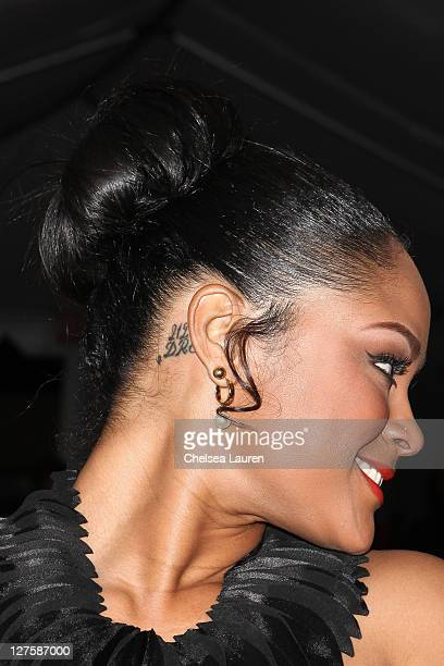 Model Maliah Michel arrives at the AllStar Weekend Grand Finale with Nicki Minaj at BOULEVARD3 on February 20 2011 in Los Angeles California