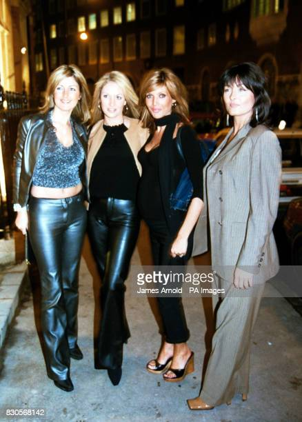 Model Mandy Smith and sister Nicola Smith arriving at the Cinnamon Club at The Old Westminster Library in London for a celebrity launch dinner and...