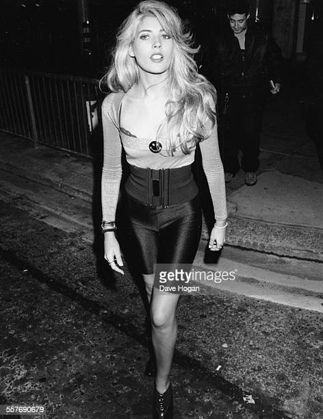 Model Mandy Smith attending a party held by Belinda Carlisle at The Roof Gardens London September 26th 1988