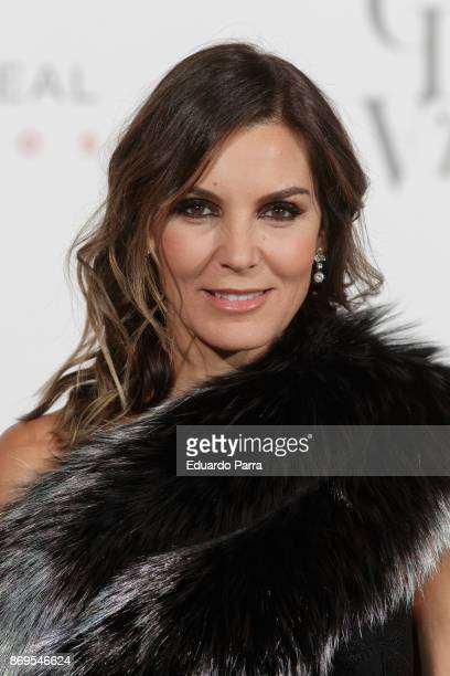 Model Mar Flores attends teh '20th anniversary gala' photocall at Royal Theatre on November 2, 2017 in Madrid, Spain.