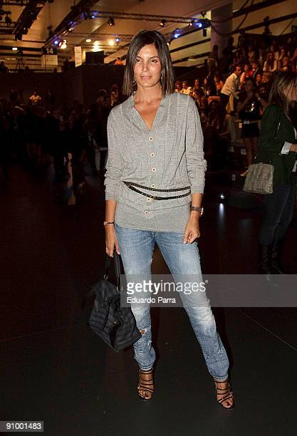 Model Mar Flores attends the Roberto Torreta show during Cibeles Madrid Fashion Week Spring/Summer 2010 at Pasarela Cibeles on September 21 2009 in...