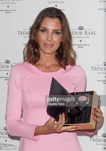 Model Mar Flores attends the Tresor Rare photocall at Emperatriz hotel on May 18, 2016 in Madrid, Spain.