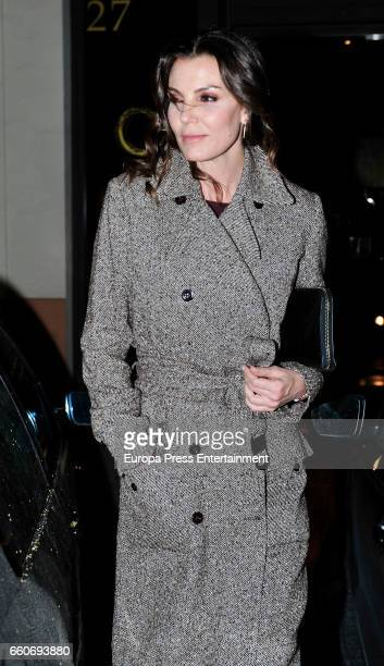 Model Mar Flores is seen visiting Royal Palace and going to a restaurant on March 22 2017 in Madrid Spain