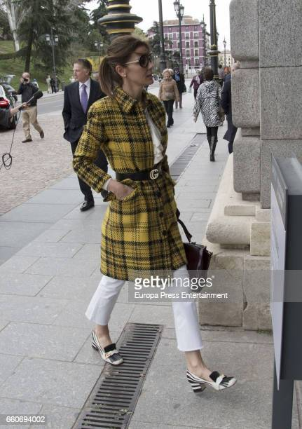 Model Mar Flores is seen visiting Royal Palace on March 22 2017 in Madrid Spain