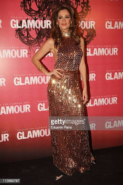 Model Mar Saura attends the Glamour Awards party at Casino de Madrid November 6 2007 in Madrid Spain