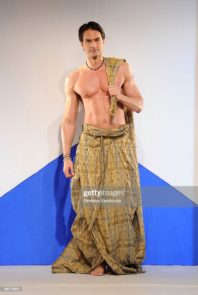 Model Marcus Schenkenberg attends the 8th annual 'Dressed To Kilt' Charity Fashion Show at M2 Ultra Lounge on April 5, 2010 in New York City.