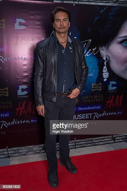 Model Marcus Schenkenberg attends the Norwegian premiere of Hedda Gabler held at the Vika Cinema on September 08 2016 in Oslo Norway