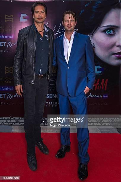 Model Marcus Schenkenberg Director Matthew John attend the Norwegian premiere of Hedda Gabler held at the Vika Cinema on September 08 2016 in Oslo...