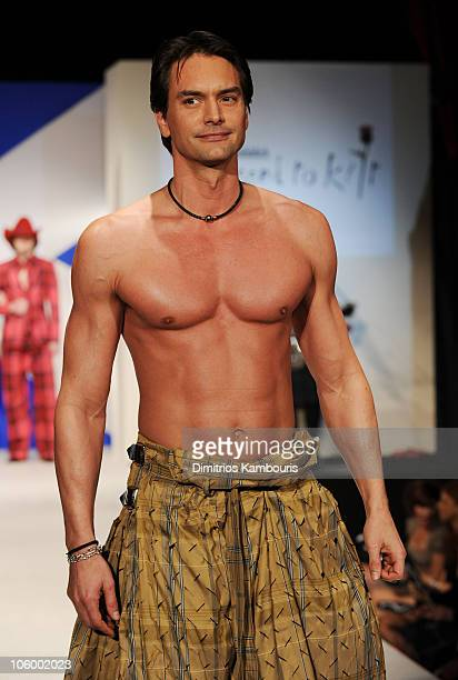 Marcus schenkenberg pictures and photos getty images model marcus schenkenberg walks the runway at the 8th annual dressed to kilt charity altavistaventures Image collections