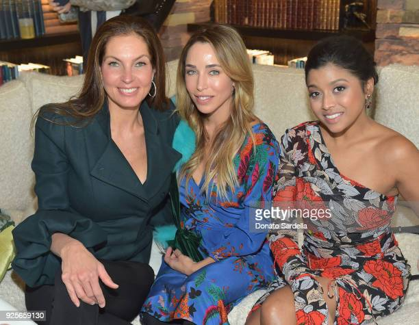Model Mareva Georges Marciano Katia Francesconi and actor Tiya Sircar attend the DVF Oscar Luncheon Honoring The Female Nominees Of The 90th Academy...