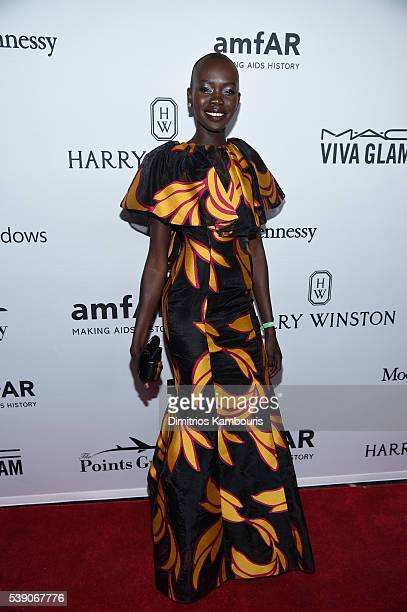 Model Mari Agory attends the 7th Annual amfAR Inspiration Gala at Skylight at Moynihan Station on June 9 2016 in New York City