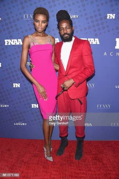 Model Maria Borges and Roy Luwolt attend the 31st FN Achievement Awards at IAC Headquarters on November 28 2017 in New York City