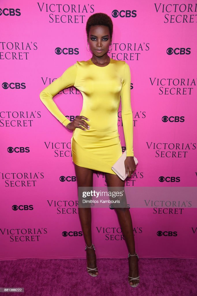 Model Maria Borges attends as Victoria's Secret Angels gather for an intimate viewing party of the 2017 Victoria's Secret Fashion Show at Spring Studios on November 28, 2017 in New York City.