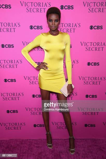 Model Maria Borges attends as Victoria's Secret Angels gather for an intimate viewing party of the 2017 Victoria's Secret Fashion Show at Spring...