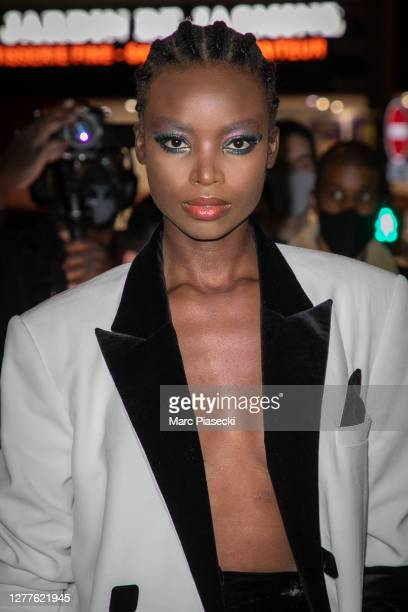 Model Maria Borges attends the Balmain Womenswear Spring/Summer 2021show as part of Paris Fashion Week on September 30, 2020 in Paris, France.