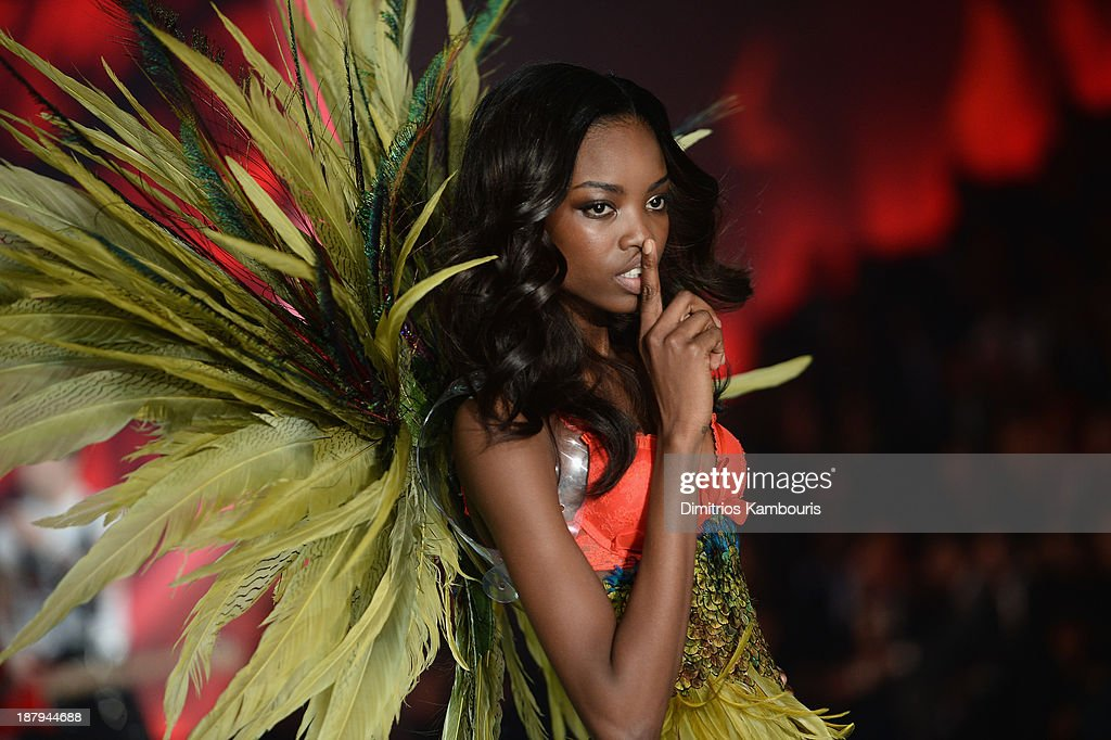 Model Maria Borges walks the runway at the 2013 Victoria's Secret Fashion Show at Lexington Avenue Armory on November 13, 2013 in New York City.