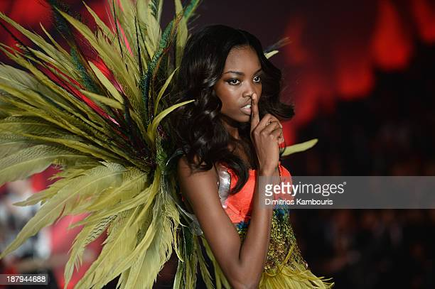 Model Maria Borges walks the runway at the 2013 Victoria's Secret Fashion Show at Lexington Avenue Armory on November 13 2013 in New York City
