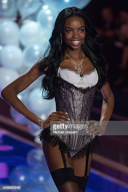 Model Maria Borges walks the runway at the annual Victoria's Secret fashion show at Earls Court on December 2, 2014 in London, England.