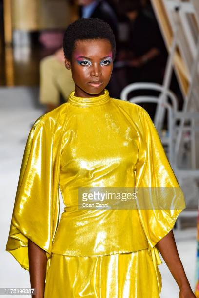 Model Maria Borges walks the runway at the Christian Siriano S/S 2020 Fashion Show at Gotham Hall on September 07 2019 in New York City