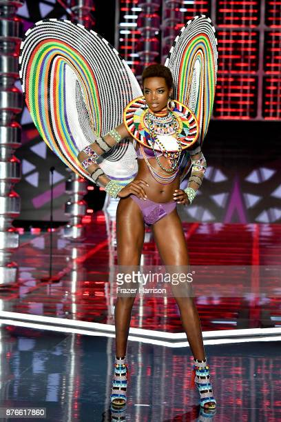 Model Maria Borges walks the runway during the 2017 Victoria's Secret Fashion Show In Shanghai at MercedesBenz Arena on November 20 2017 in Shanghai...