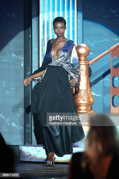Model Maria Borges walks the runway during the amfAR Gala Cannes 2017 at Hotel du CapEdenRoc on May 25 2017 in Cap d'Antibes France