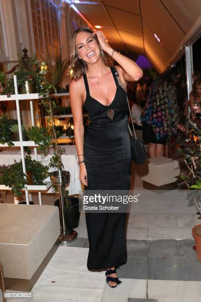Model Maria Imizcoz, ex-girlfriend of Bayern Munich soccer player Javi Martinez during the Zhero hotel and 'Bahia Mediterraneo' restaurant opening on...