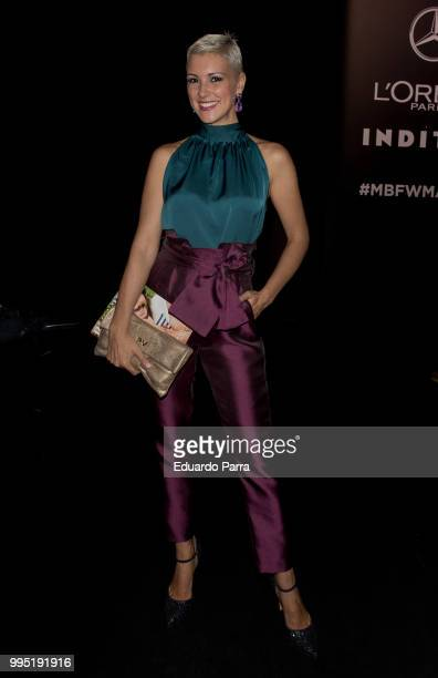 Model Maria Jesus Ruiz attends Hannibal Laguna show at Mercedes Benz Fashion Week Madrid Spring/ Summer 2019