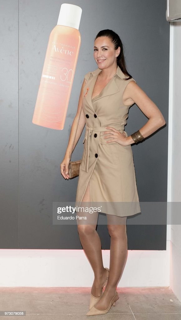 Model Maria Jose Besora attends the 'Avene support skin cancer prevencion' event at UnoNueve space on June 13, 2018 in Madrid, Spain.