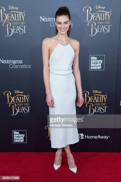 Model Mariah Strongin attends the 'Beauty And The Beast' New York screening at Alice Tully Hall at Lincoln Center on March 13 2017 in New York City