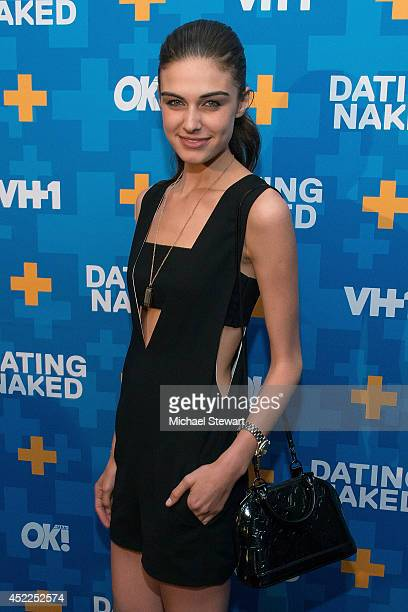 Model Mariah Strongin attends the 'Dating Naked' series premiere at Gansevoort Park Avenue on July 16 2014 in New York City
