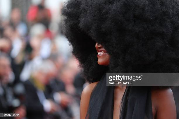 TOPSHOT Model Mariame Sakanoko arrives on May 18 2018 for the screening of the film 'The Wild Pear Tree ' at the 71st edition of the Cannes Film...