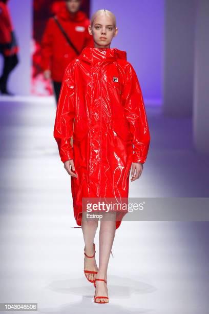 Model Mariana Zaragoza walks the runway at the Fila show during Milan Fashion Week Spring/Summer 2019 on September 23 2018 in Milan Italy