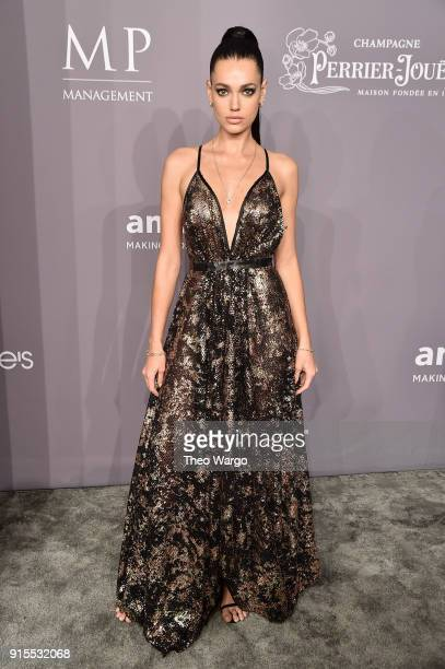 Model Marianne Fonseca attends the 2018 amfAR Gala New York at Cipriani Wall Street on February 7 2018 in New York City