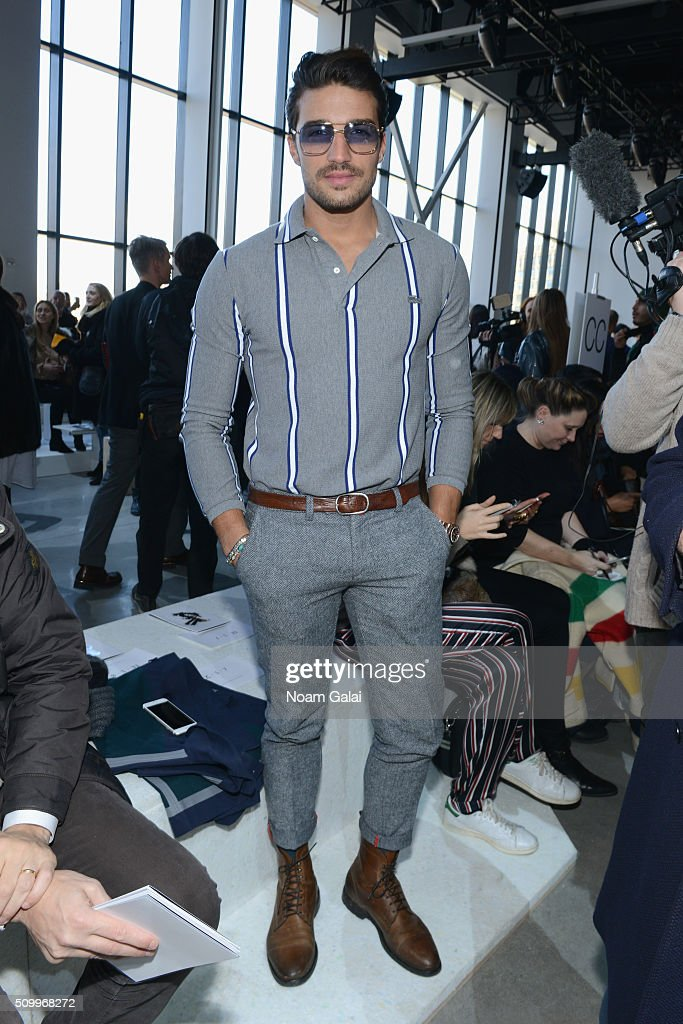Model, Mariano Di Vaio, attends the Lacoste Fall 2016 fashion show during New York Fashion Week at Spring Studios on February 13, 2016 in New York City.