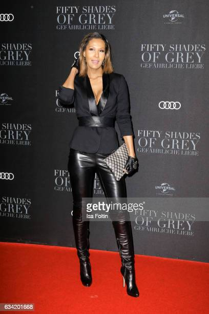 Model Marie Amiere attends the European premiere of 'Fifty Shades Darker' at Cinemaxx on February 7 2017 in Hamburg Germany