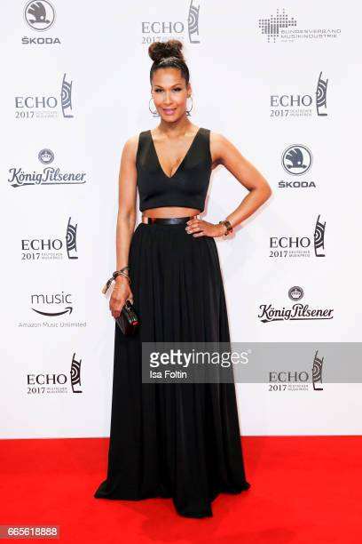 Model Marie Amière during the Echo award red carpet on April 6 2017 in Berlin Germany