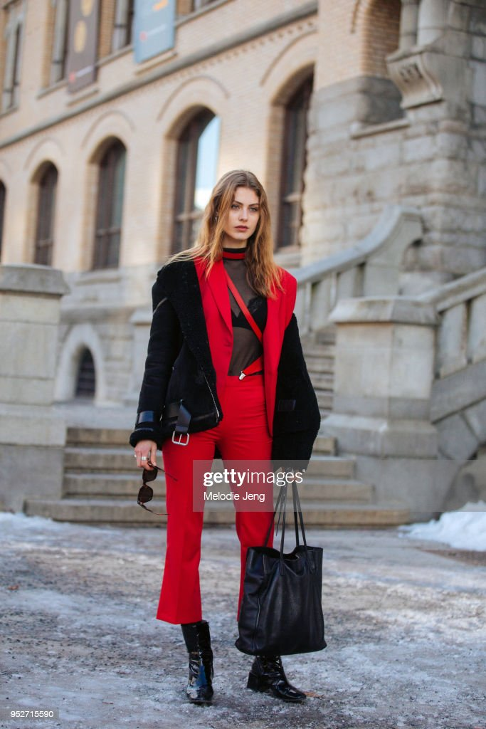 Day 2 - Steet Style - Oslo Fashion Week - January 2018 : Photo d'actualité