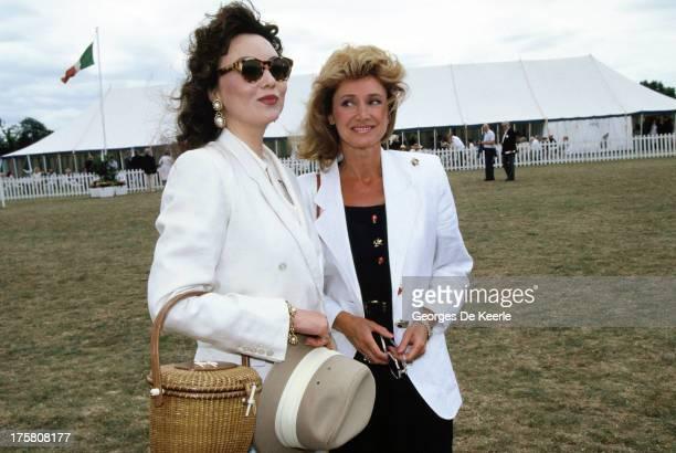 Model Marie Helvin and TV presenter Jan Leeming in 1990 ca in London England