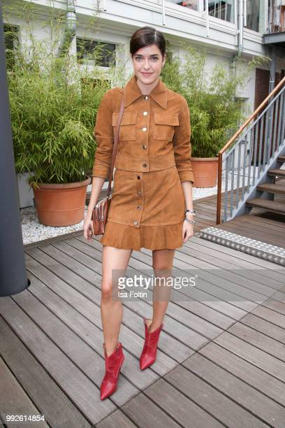 Model Marie Nasemann attends The Fashion Hub during the Berlin Fashion Week Spring/Summer 2019 at Ellington Hotel on July 5 2018 in Berlin Germany